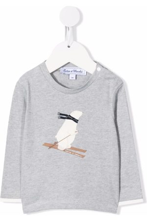 Tartine Et Chocolat Polar bear-print long-sleeve T-shirt