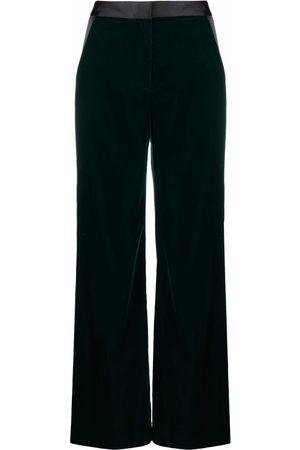Karl Lagerfeld High-waisted flared-leg trousers