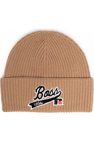 BOSS Logo-embroidered beanie hat