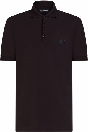 Dolce & Gabbana Logo-patch short-sleeve polo shirt