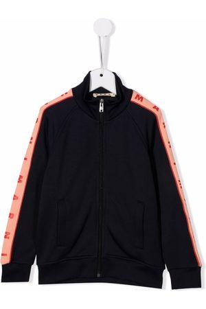 Marni Kids Logo-tape zip-up jacket