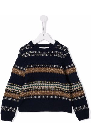 Bonpoint Striped pattern wool-blend jumper