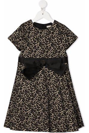 Elie saab Leopard-print bow-waist dress