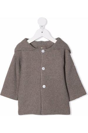 Little Bear Baby Jackets - Tassel-hood wool-knit jacket