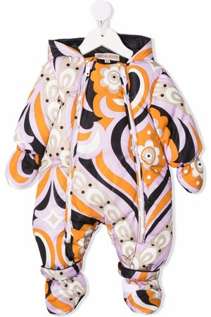 Emilio Pucci Junior Abstract-pattern padded snowsuit