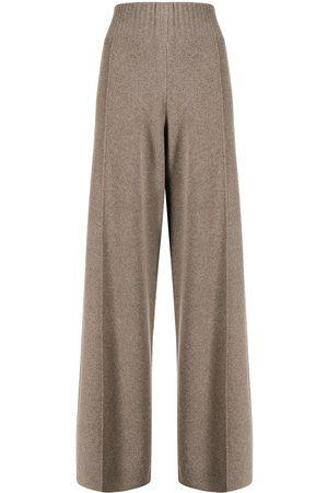 Pringle of Scotland Women Wide Leg Pants - High-waist wide-leg knitted trousers