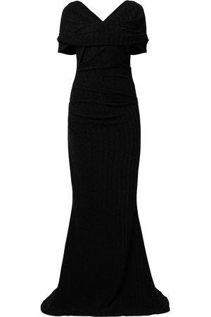 TALBOT RUNHOF V-neck maxi gown
