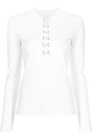 DION LEE Hook-detailed long-sleeved top