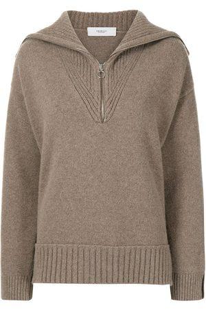 PRINGLE OF SCOTLAND Half-zip wool-cashmere jumper