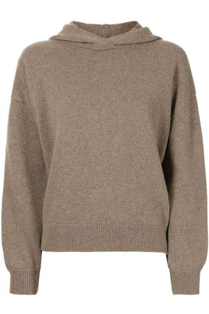 PRINGLE OF SCOTLAND Women Jumpers - Wool-cashmere hooded jumper