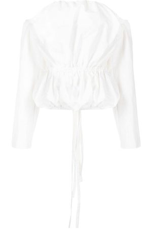 CHRISTOPHER ESBER Bandeau long-sleeve blouse