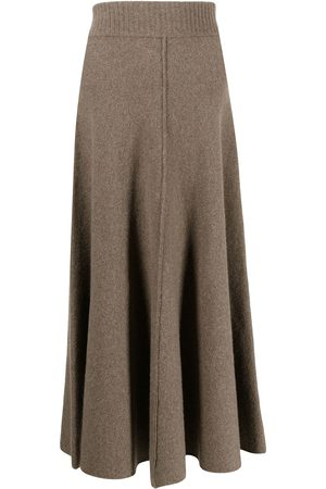 PRINGLE OF SCOTLAND Women Midi Skirts - Fine-knit midi skirt