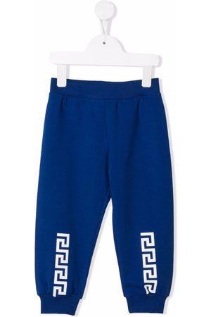VERSACE Greca-print cotton track pants