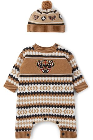 Burberry Baby Cashmere Fair Isle Bodysuit Set
