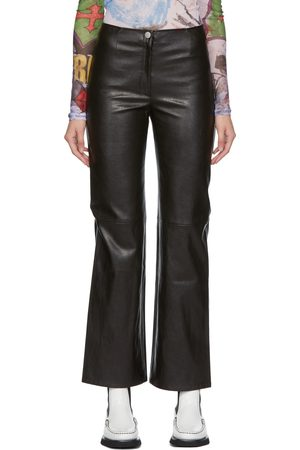 OUR LEGACY Faux-Leather Biker Trousers