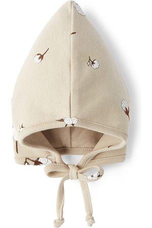 Organic Zoo Boys Neckties - Baby Taupe Pixie Bonnet