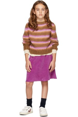 Longlivethequeen Kids Mohair Striped Sweater