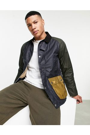 Barbour Beacon Bedale wax patch jacket in navy