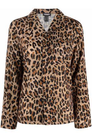 Dsquared2 Leopard-print notched-lapels shirt