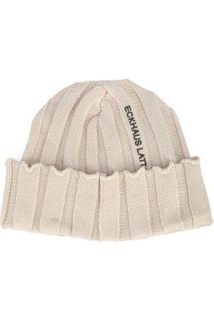 ECKHAUS LATTA Women Beanies - Logo-print ribbed-knit beanie