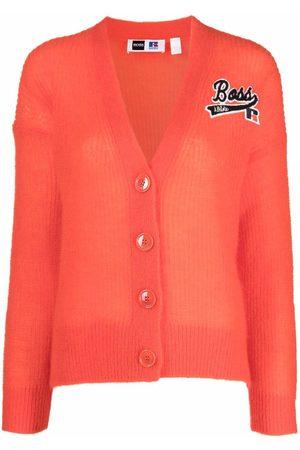 HUGO BOSS X Russell Athletic mohair-blend cardigan