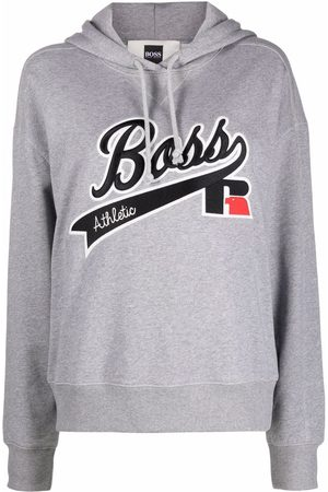 HUGO BOSS Embroidered-logo pullover hoodie