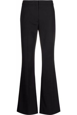 Msgm High-waisted flared leg trousers