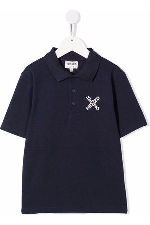 Kenzo Boys Polo Shirts - Logo print polo shirt