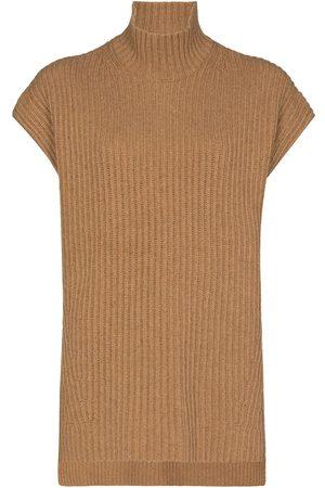 Ganni Oversized ribbed knitted vest