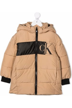 Calvin Klein Logo print padded coat