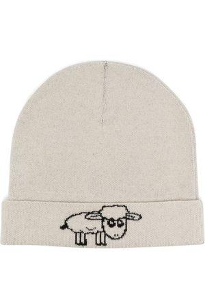 Natasha Zinko Women Beanies - Intarsia-sheep knitted beanie