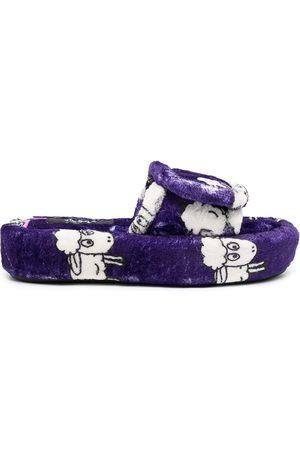 DUOltd Duo Volume Sheep-pattern terry slipper