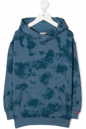 Levi's Logo-embroidered tie-dye hoodie