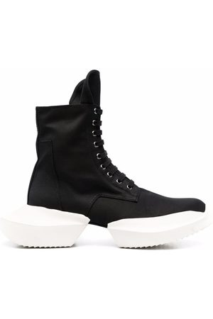 Rick Owens High-top laced trainer-boots