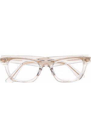 Bottega Veneta Rectangular clear-frame glasses