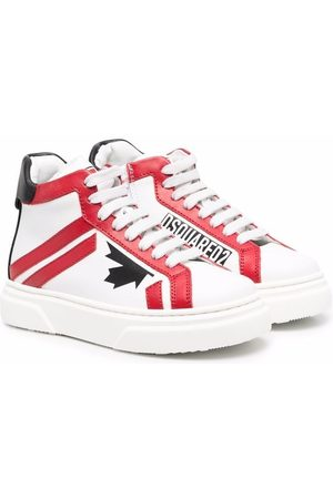 Dsquared2 D2 leather high-top sneakers