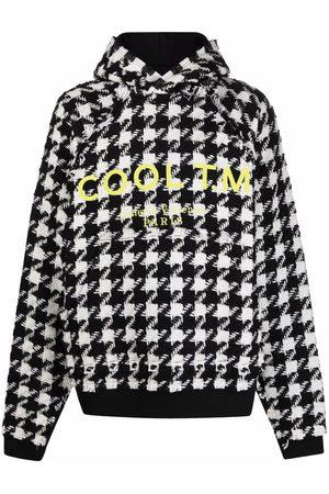 COOL T.M Houndstooth logo-print hoodie