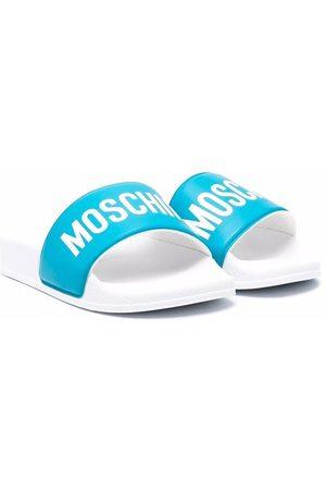 Moschino Logo-print open-toe slides