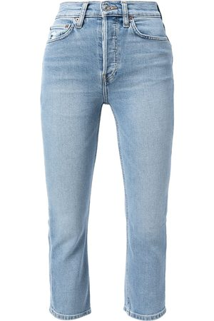 RE/DONE High-rise skinny cropped jeans