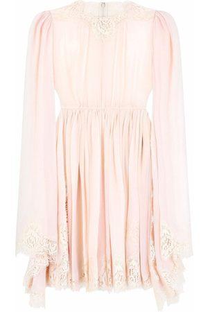 Dolce & Gabbana Lace-embroidered mini dress