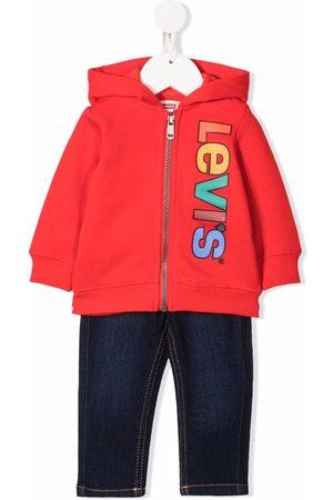 Levi's Baby Hoodies - Logo-print zip-up hoodie