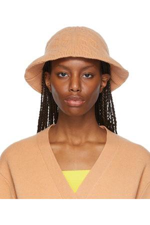 Victor Glemaud Tan Knit Bucket Hat
