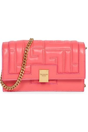 Balmain Mini 1945 Quilted Leather Bag