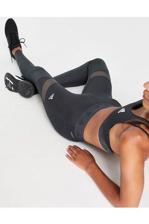 adidas Adidas Training leggings with insert detail in dark