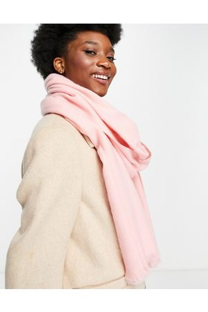 ASOS Recycled blend scarf with raw edge in light