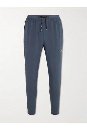 Nike Men Trousers - Tapered Stretch-Shell Drawstring Running Trousers