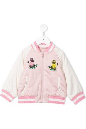 Stella McCartney Poodle print bomber jacket