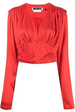 ROTATE Janet V-neck blouse