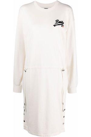 HUGO BOSS Logo-patch jumper dress