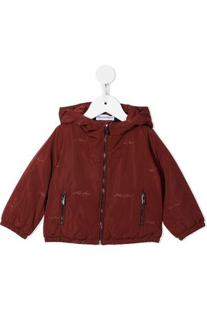 Emporio Armani Baby Jackets - Logo-embroidered hooded jacket